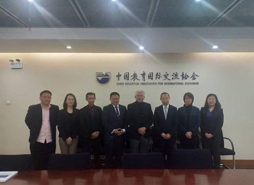 UCYP学校代表团到访中国教育国际交流协会
