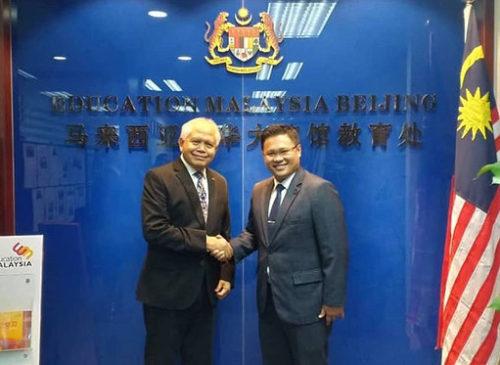 UCYP学校代表团拜访马来西亚驻华使馆教育处侯春兴参赞